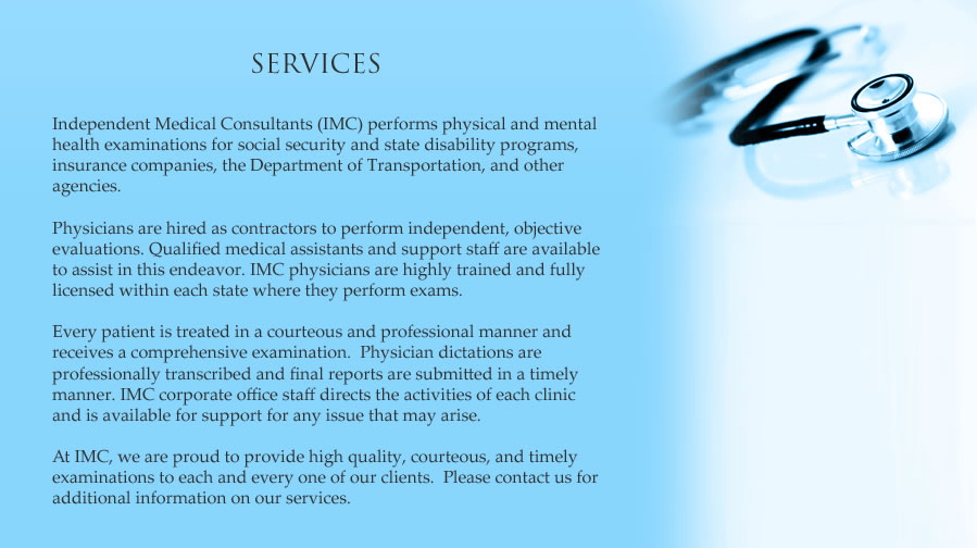 Independent Medical Consultants Disability And Physical Exams